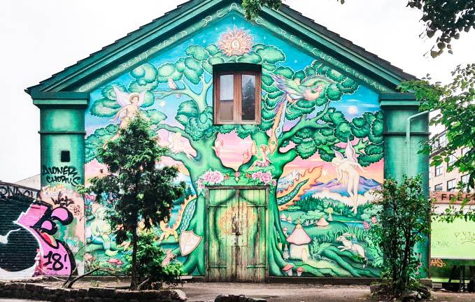 Street art in Copenhagen Denmark travel