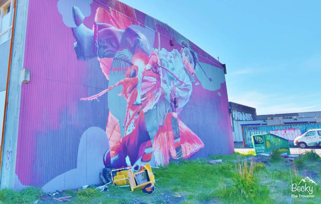 Street art in Reykjavik Iceland travel