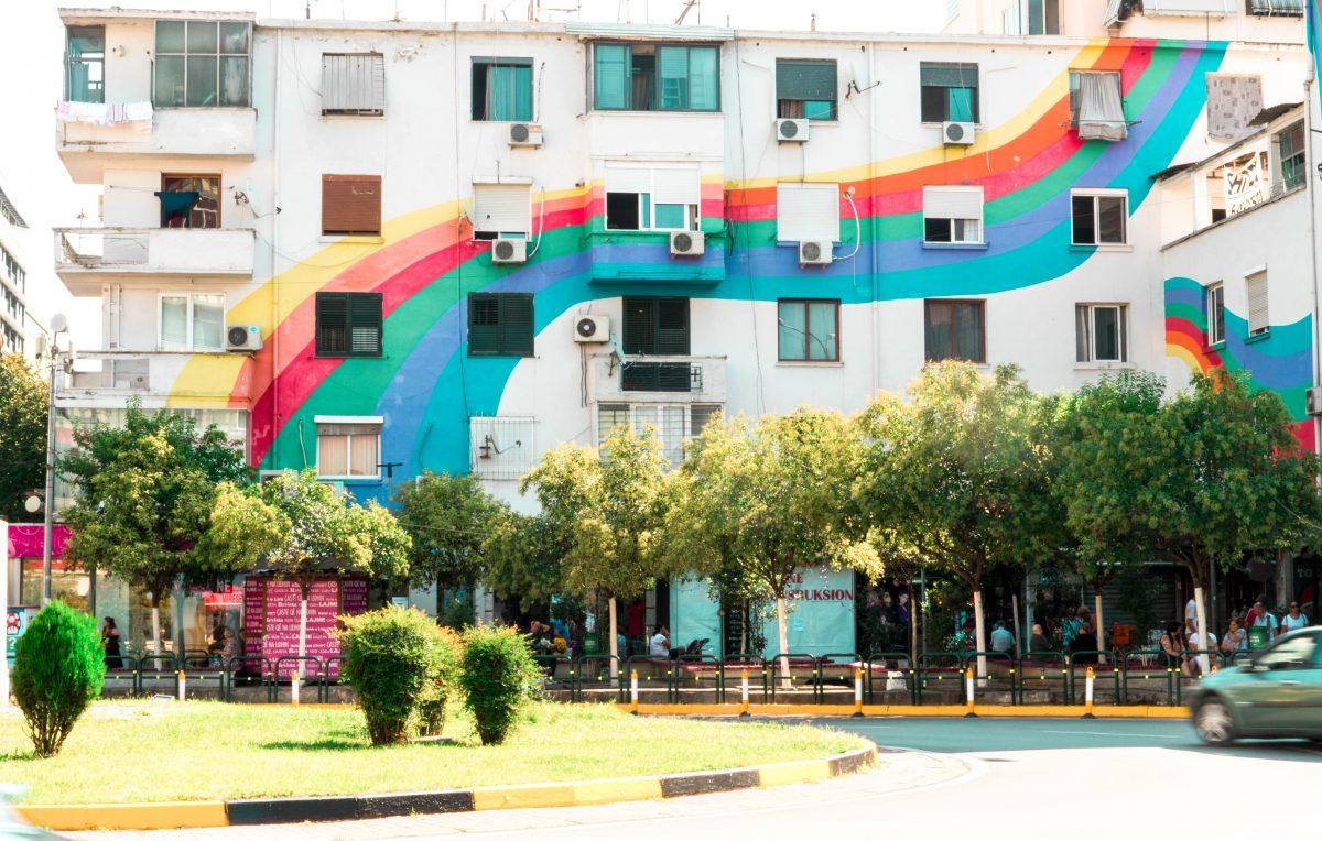 Street art in Tirana Albania travel