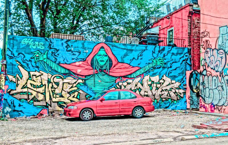 Street art in Toronto Canada travel